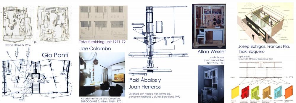 Ejemplos de flexibilidad en vivienda a lo largo de los años. Iker Gómez Iborra