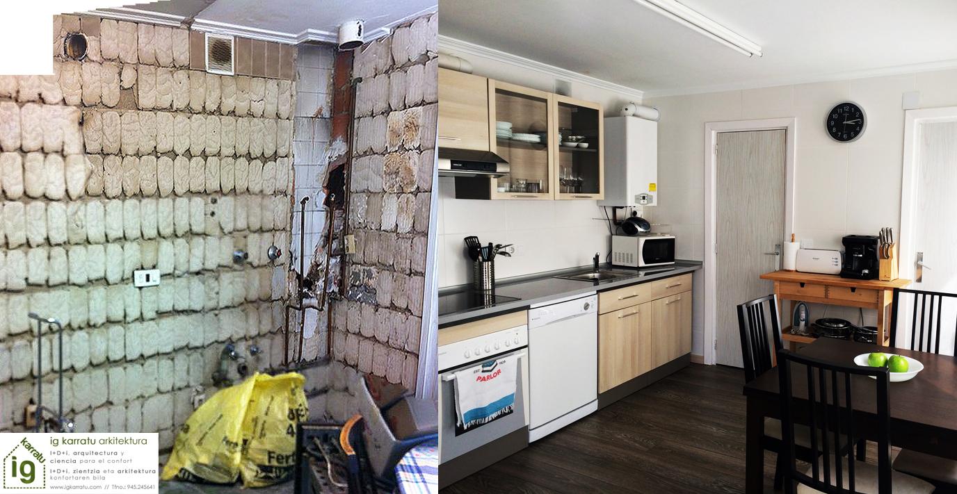 Rehabilitación de vivienda en el casco viejo de Vitoria-Gasteiz
